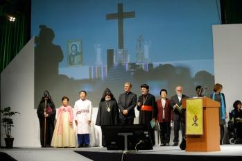 Inauguración de la X Asamblea del Consejo Mundial de Iglesias (CMI) en Busan, Corea. 30/10/2013