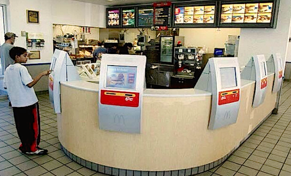 Ejemplo de un restaurante de comida rápida automatizado