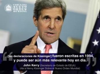 """""""...[las declaraciones de Kissinger] fueron escritas en 1994, y puede ser aún más relevante hoy en día."""""""