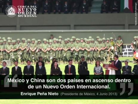 """México y China son dos países en ascenso dentro de un Nuevo Orden Internacional."""