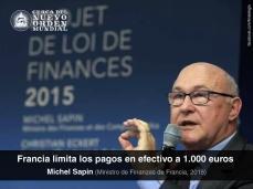 Francia limita los pagos en efectivo a 1.000 euros