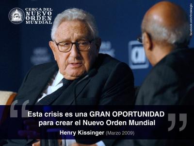 Resultado de imagen para henry kissinger nuevo orden mundial