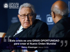 """""""Esta crisis es una GRAN OPORTUNIDAD para crear el Nuevo Orden Mundial"""""""