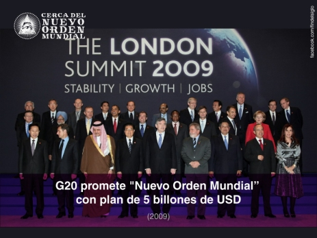 "G20 promete ""Nuevo Orden Mundial"" con plan de 5 billones de USD"