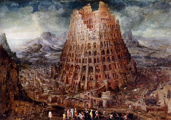 Torre de Babel (por el artista Marten van Valckenborch, 1600)