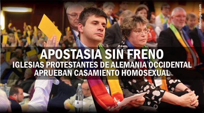 Iglesia Protestante alemana aprueba el matrimonio gay