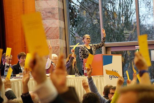 Votación en el sínodo de la Rheinische Evangelische Kirche