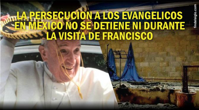 Queman un templo evangélico en Chiapas