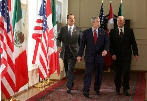 George Bush, Vicente Fox, Martin