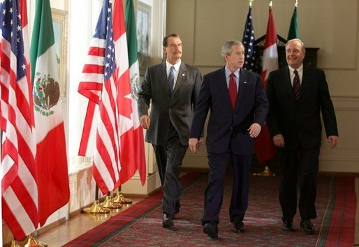 George Bush, Vicente Fox, Martin