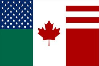 Union America del Norte bandera2