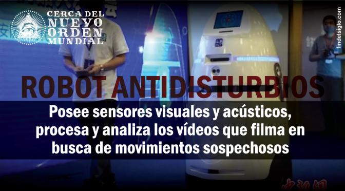 China presentó 'AnBot', su robot antidisturbios para patrullar en lugares públicos