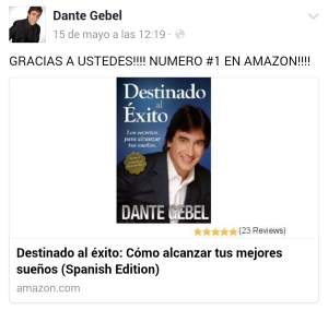 Dante gebel promocion libros Amazon