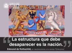 """""""La estructura que debe desaparecer es la nación."""" Edmond de Rothschild, en declaraciones a la revista """"Enterprise""""."""