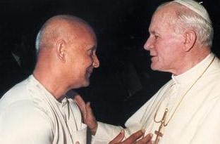 Sri Chinmoy y Juan Pablo II