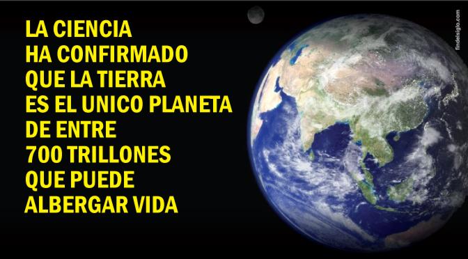 Resultado de imagen de la tierra unico planeta con señales de vida