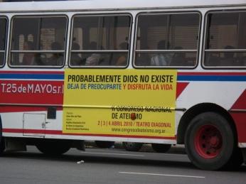 Bus ateo en Mar del Plata, Argentina