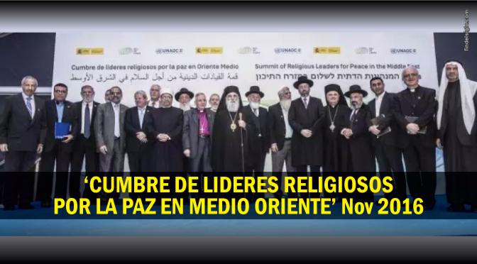 Musulmanes, judíos y cristianos (católicos) apuestan por la vía religiosa para la paz