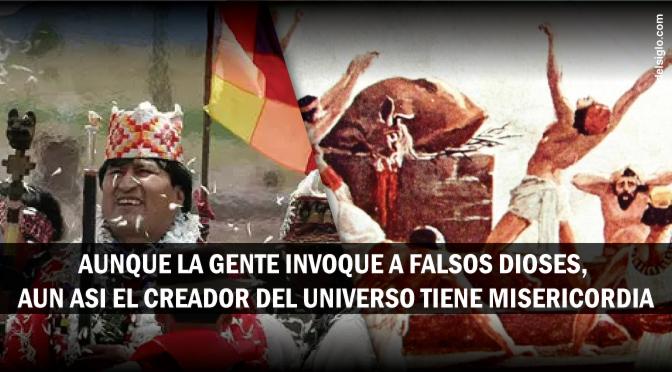 [Bolivia] El Presidente participa de rituales paganos para pedir por lluvia