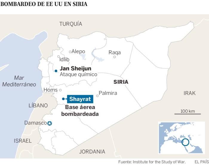 bombardeo EEUU en Siria