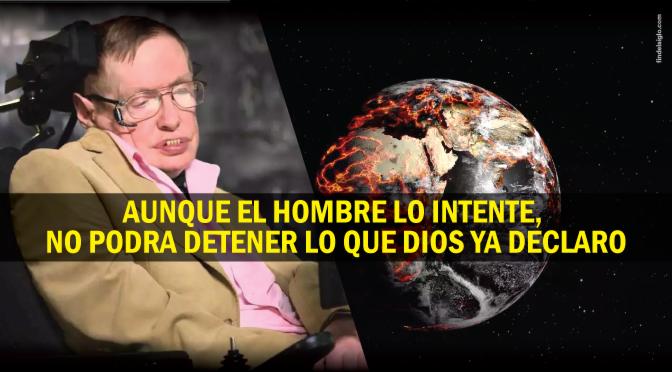 Stephen Hawking: «Debemos abandonar la Tierra en cien años»