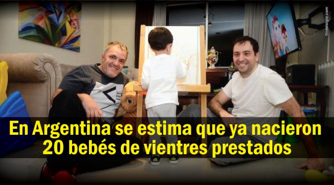 [Argentina] Una pareja gay tuvo un bebé con un vientre prestado y reconocen a los dos como padres