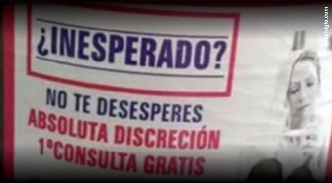 [Argentina] Aparece cartel callejero que publicita la práctica de abortos