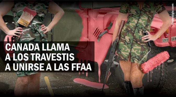[Canadá] Se llama a los travestis a unirse al ejército