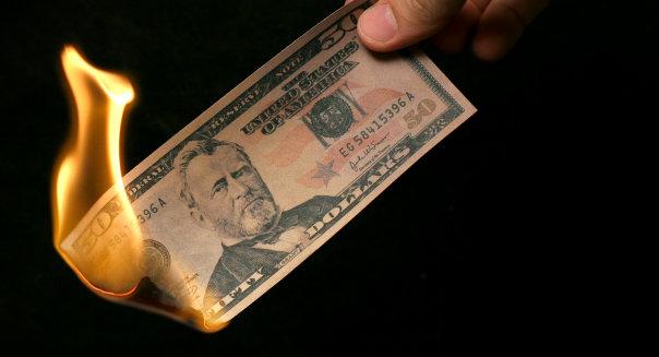 quemar dinero