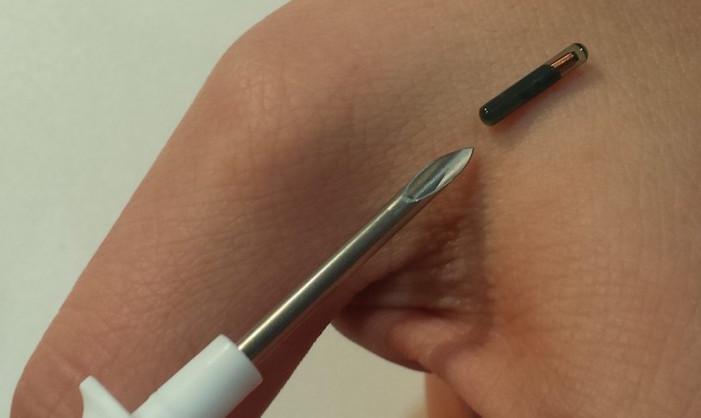 RFID chip y jeringa