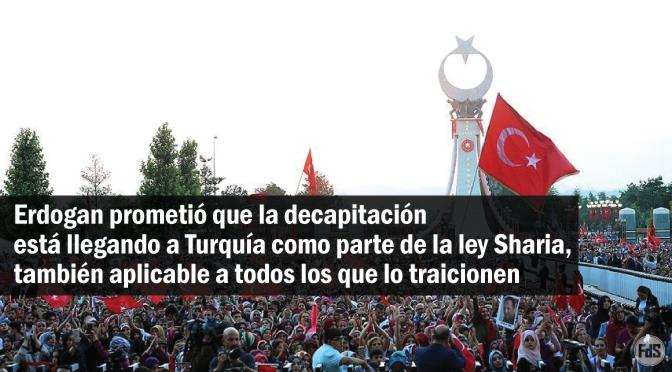 [Turquía] Erdogan erige una imagen gigante simbolizando su victoria y refuerza la aplicación de la ley islámica