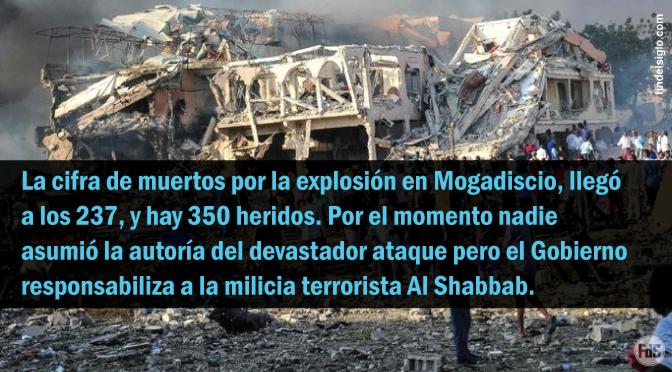[Somalía] Terrible atentado suicida deja al menos 237 muertos