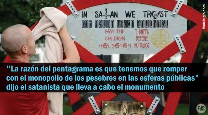 [EE.UU.] 'En Satanás Confiamos': Ateo de la Florida planea erigir Pentagrama de metal de 1.80 metros