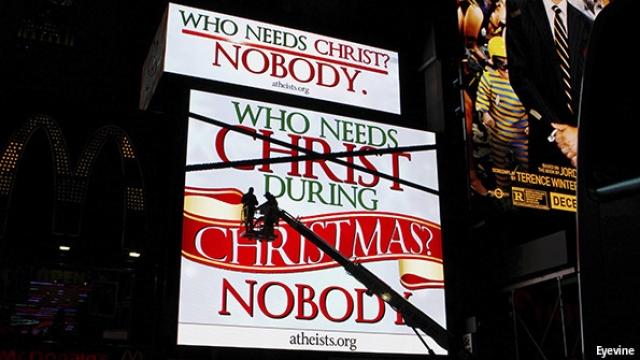 cartel ateos navidad