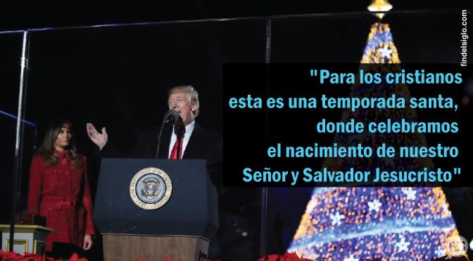 [EE.UU.] Trump no retrocede, recuerda abiertamente al país que la Navidad se trata de Jesús