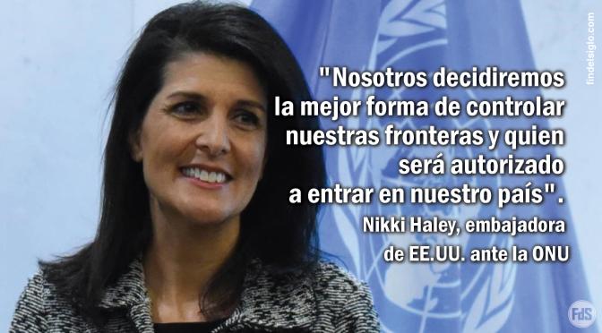 EE.UU. se retira del Pacto Mundial de la ONU sobre migración y refugiados