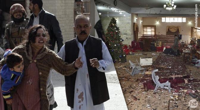 [Pakistán] 8 muertos en un atentado suicida prenavideño en una iglesia metodista