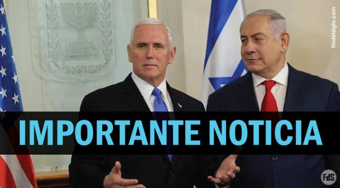 CONFIRMADO – La Embajada de Estados Unidos, en 2019 en Jerusalén