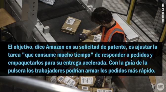 Amazon patenta una pulsera para controlar los movimientos de sus empleados