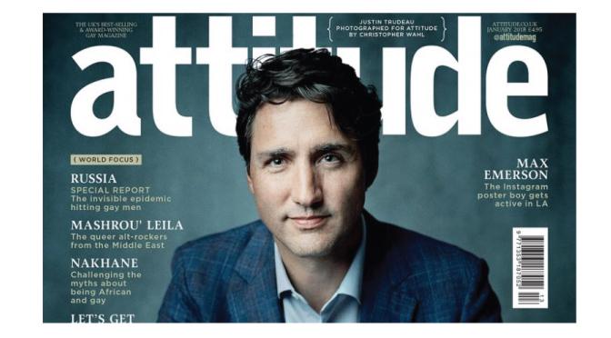 Primer Ministro canadiense como tapa de una revista LGBT