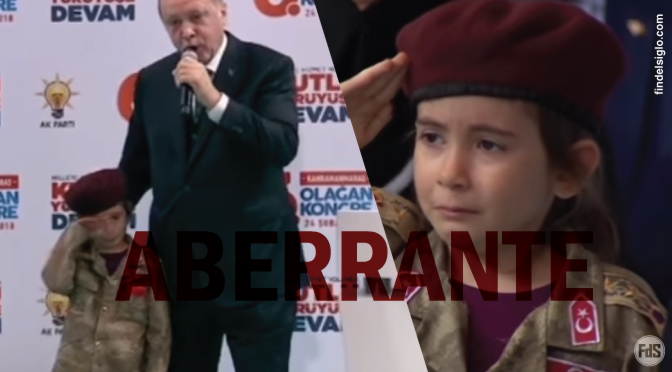 El presidente turco le dijo a niña de seis años que su 'martirio' sería honrado por el país