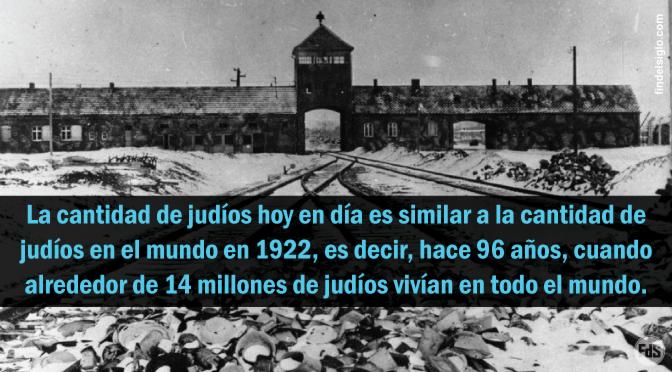 En el mundo hay menos judíos hoy, que antes del comienzo del Holocausto