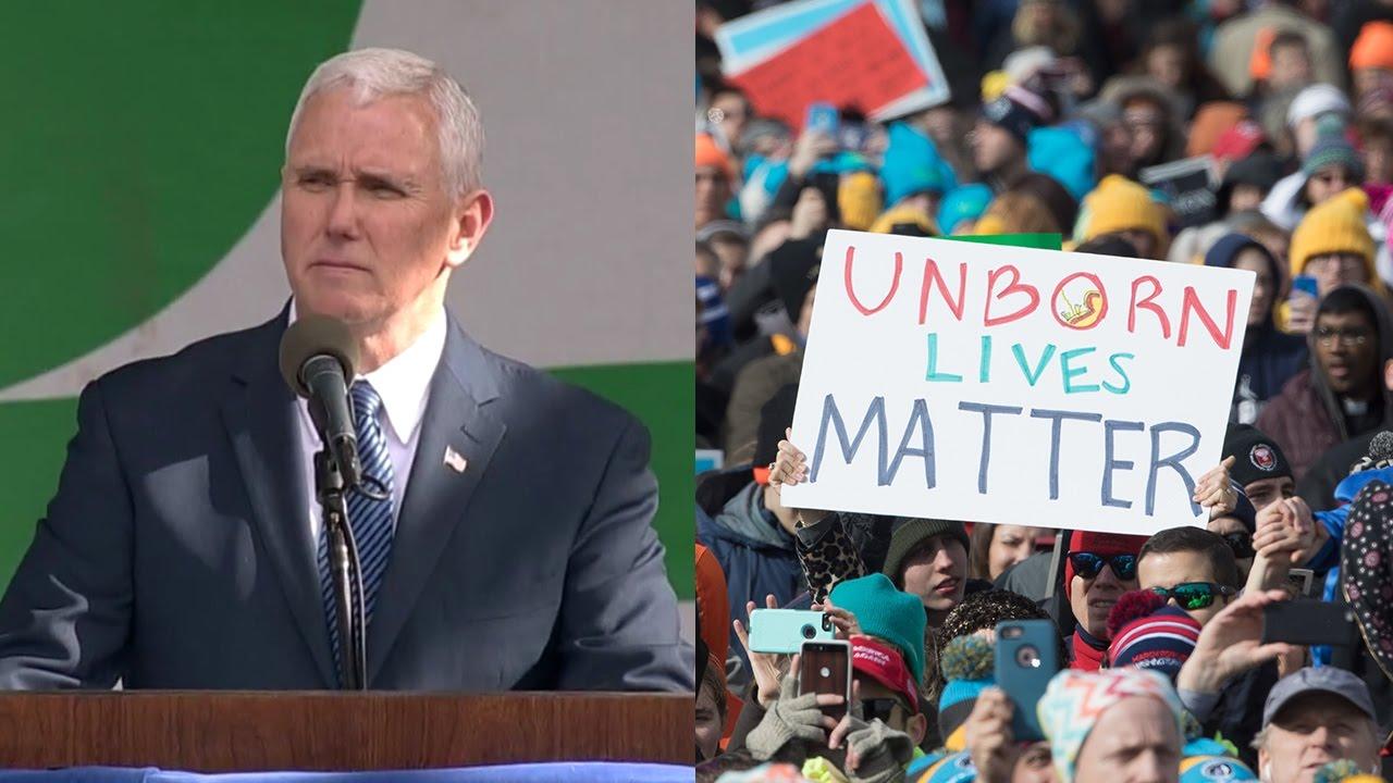 Pence marcha anti aborto