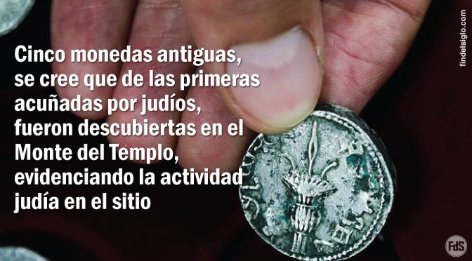 Encuentran extrañas monedas en la excavación del Monte del Templo