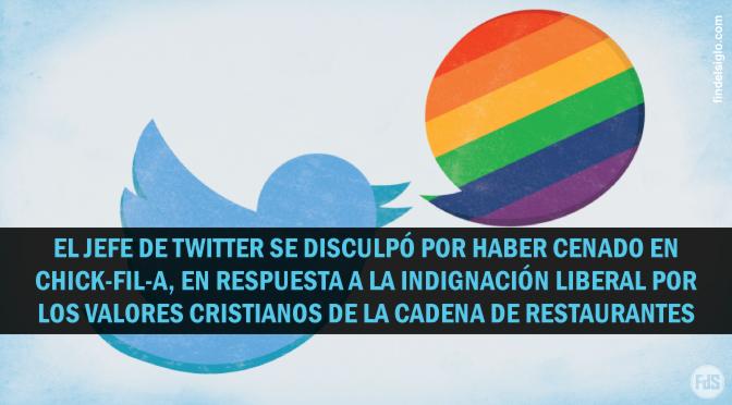"""El CEO de Twitter se disculpa por haber comido en Chick-fil-A, dice que olvidó su """"trasfondo"""" cristiano"""