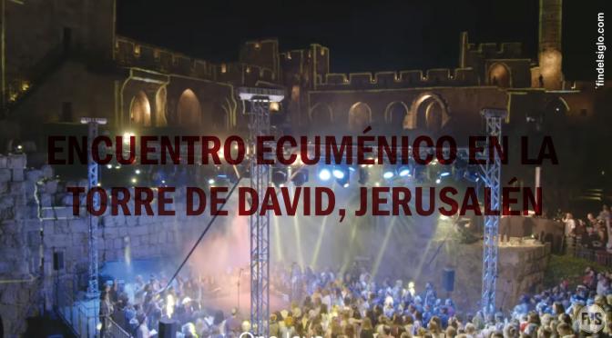 """Judíos, musulmanes y católicos juntos cantando """"Un amor"""", en Jerusalén"""