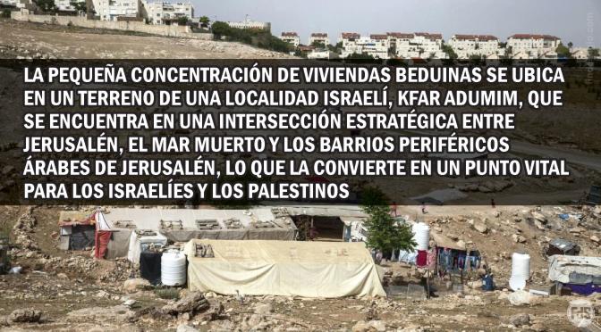 La Unión Europea y la autoridad Palestina, contra Israel… y los beduinos