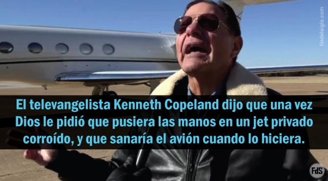 Kenneth Copeland afirma que Dios 'sanó' un avión privado oxidado, después de haber orado por él