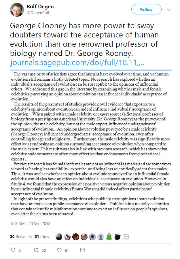 teoria evolucion influencia de famosos