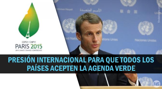 Macrón pide no hacer acuerdos comerciales con quienes no acepten el Acuerdo de París